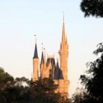 Magic Kingdom castle at sunset